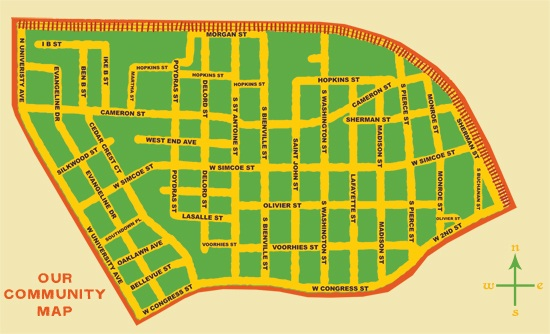Map of the area courtsey of www.townfolk.org